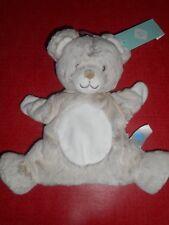 Doudou Plat Marionnette Ours Blanc Beige Marron Tex Baby Carrefour Neuf 2 Dispo
