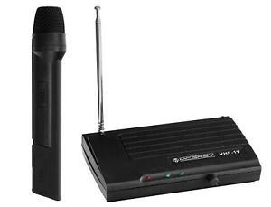 DJ PA VHF Funk Mikrofon Set Wireless Microphone Kabellos Gesangs Microfon Mic