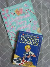 USBORNE CHILDREN'S COOKBOOK BUNDLE Beginner's Cookbook & Christmas Fairy Cooking