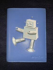 Coach ROBOT Leather Passport Case/Wallet