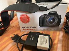 Canon EOS 700d SLR-Fotocamera digitale-nero (KIT CON EF-S 18-55mm IS STM...