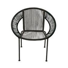 Benzara-44523-Splendid Metal Plastic Rattan Chair New