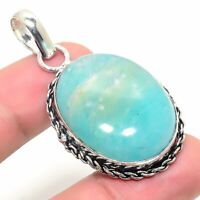 "Amazing Aquamarine Handmade Ethnic Style Jewelry Pendant 1.97 """