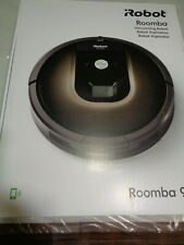 Black Automatic Smartphone Controlled 980 Bagless Floor Vacuum Cleaning Robot