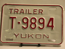 Yukon License Plate Trailer T 9894 New Garage New Old Stock NOS