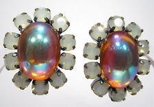 Mode-Ohrschmuck aus gemischten Metallen mit Clips Cabochon