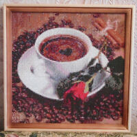 5D DIY Diamond Embroidery Painting Crafts Coffee Cross Stitch Kit Home DIY Decor