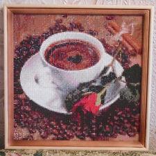 Diamond Painting-Diamant Stickerei/Malerei Diamant Bild Blume & Kaffee 35 x 35cm