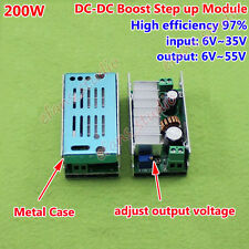 200W DC-DC Boost Converter 6V-35V to 9V-55V 12V 19V 24V 48V Power Supply Module