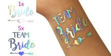 6er Set Silber-Rainbow Tattoos Team Bride für JGA und Hochzeit / Team Braut