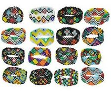 1154AS Bulk, Resale, Bracelet Mix, Glass Seed Bead, 7-inch stretch, 16 Qty