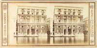 Italia Venezia Palais Foto G.Sommer, Stereo Vintage Albumina Ca 1865