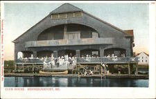 Kennebunkport ME Club House on Water c1910 Postcard