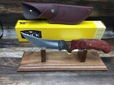 Buck 401RWS-B Kalinga Knife Rosewood Handles & Leather Sheath - Mint In Box