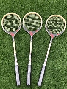 Set Of 3 Vintage Rucanor Smash Squash Rackets Unused Sealed Grips