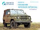 Quinta QD35010 UAZ 469 3D-Printed  coloured Interior for Trumpeter kit