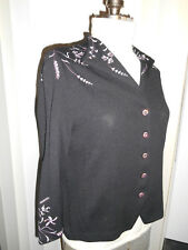 ST. JOHN EVENING FROSTED ROSE RHINESTONE KNIT JACKET Size 14 NEW TAGS.! $1405.00