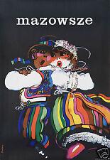 Original Vintage Poster Mazowsze Polish Dance Folk 1970s Peasant Ethnic Festival