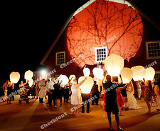 120 White Chinese Fire Fly Sky Paper Kongming Floating Wishing Lantern Wedding