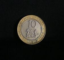 1994 Kenya 10 Shillings Brass Bi Metallic World Coin KM27 Africa Lions Harambee