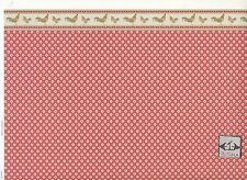 Brodnax Prints Rooster 1KT605 Kitchen wallpaper dollhouse 1/12 scale