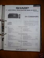 Service-Manual Sharp SA-CD800H HiFi-CD-Anlage, ORIGINAL