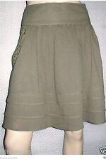 Jupe Kaki poches brodés COLLECTION CASUAL T42/44 Neuve + étiquette