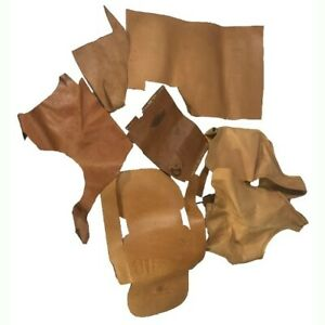 Leather Scraps 2lb 14oz Tooling Cowhide Thickness Pieces uncompleted projects