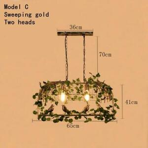 Retro Industrial Style Bird Cage Chandelier Wrought Iron Led Lamps For Restauran