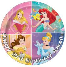 """DISNEY Princess Cake Topper Personalizzati Commestibili Wafer Carta 7.5"""""""