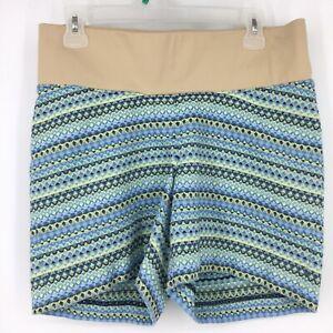 Ann Taylor Loft Maternity Shorts Womens 4 M Cotton Blend Geometric Print