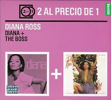 Diana Ross + Diana The Boss 2 Al Precio de 1 CAJA DE CARTION CD New Nuevo Sealed