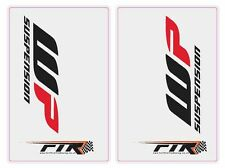 Clear Upper Fork Graphics/Stickers/Decals WP Suspension Motocross Enduro KTM SX
