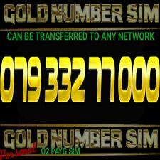 VIP Gold Number Easy O2 Golden Unique Memorable PAYG or Transfer To Any Network