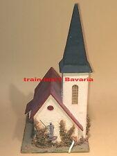 Faller 00/H0 239 Kirche m.Glocke Holz 50er Jahre alt gut.Zustand Holzhaus uralt
