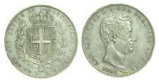 pci0038) Carlo Alberto (1831-1849) Lire 5 1843 GE in patina