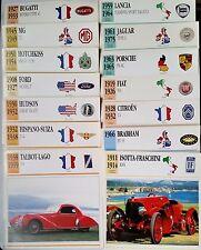 b) Lot 16 fiches photos Automobiles avant guerre; C4 Citroën/ Talbot-Lago/ Hudso