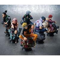 6Pcs Anime Naruto Uzumaki Kakashi Gaara PVC Figure Toy Model Set Collection Gifa
