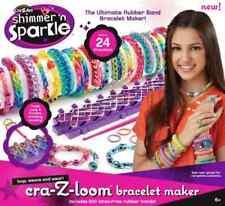cra-Z- loom Bracelet Maker Weaving frame Hooks incl. 600 Rings LOOP NEW
