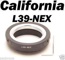 Leica M39 L39 mm Lens to Sony E Mount Adapter NEX3 NEX5 NEX7 NEX-VG-10 NEX-5N C3