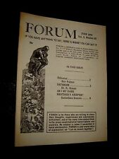 Ray Palmer's forum NEWSLETTER June 1970 FLYING SAUCERS UFO'S Paranormal Occult