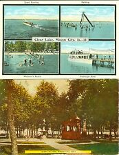 Mason City, IA Clear Lake Multi View and Fountain Area in the Park