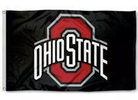 OHIO STATE BUCKEYES FLAG 3'X5' (BLACK) OSU OHIO STATE UNIVERSITY: FREE SHIPPING