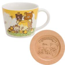 Rilakkuma Mug Cup Wood Coaster Lid Honey Forest Harvest Festival San-X Japan