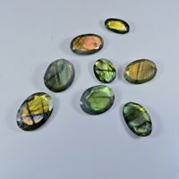 AA++ Natural Labradorite Multi Flash MM  Size Cut Oval Cabochon Gemstone Lot FZ6