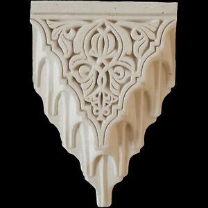 Moroccan Gypsum Plaster Corbel, Alhambra Style Shelf, 31x22cm Paint any COLOUR!