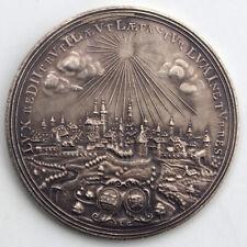 Silbermedaille o.J. (1920) Stgl. 950 Jahre Stadt Rothenburg Siegel/Stadtansicht