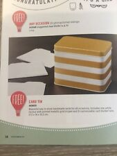 Stampin Up Card Tin NEW - gold & white