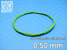 Automotive wire FLRY 0.5mm², green color, 1 meter length