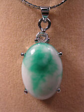 jade oval shape pendant (without chain)